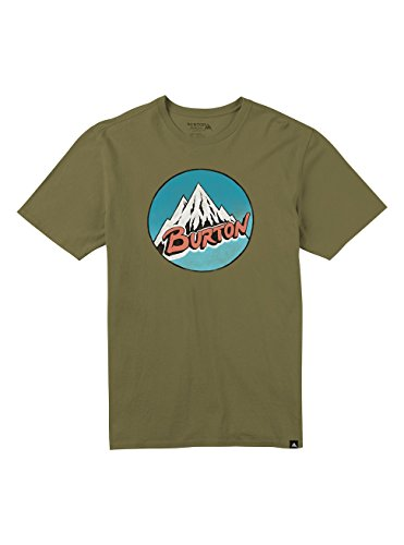 Burton Herren Retro Mountain T-Shirt Olive Branch