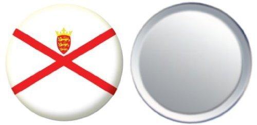 Miroir insigne de bouton Angleterre Jersey drapeau - 58mm