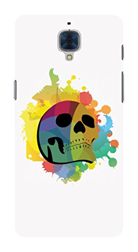 Koveru Back Cover Case for OnePlus Three - Colored Skull