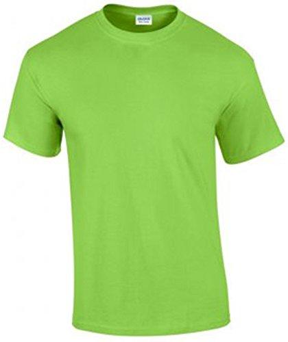 Gildan Herren Ultra Cotton T-Shirt Kurzärmlig Gelb - Lime