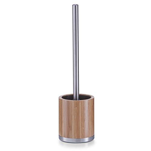 WC-Bürstenhalter aus Bambus/Edelstahl