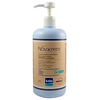Novacrem: crema hidratante y protectora para cuerpo y manos (1L) – Sin tacto graso – Evita las grietas – Producto cosmético.