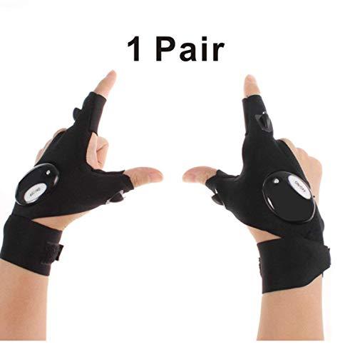 STORM GYRD LED-Taschenlampen-Handschuhe für Reparatur, Arbeiten in Dunkelheit, Angeln, Camping, Wandern und Outdoor-Aktivitäten.