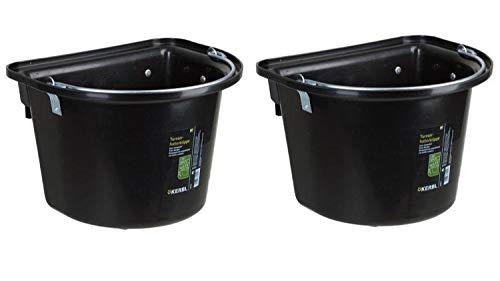 Cajou 2 x Transportkrippe mit Einhängebügel und Henkel zum Tragen (schwarz)