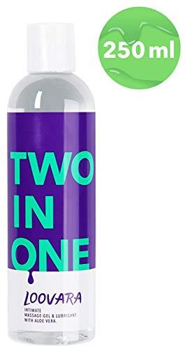 Loovara TWO IN ONE - 2 in 1, pflegendes Massage-Öl und Gleitgel in einem | mit Aloe Vera | natürliche Inhaltsstoffe, absolut duftneutral | für Vorspiel, Sex und Toys geeignet | dermatologisch getestet