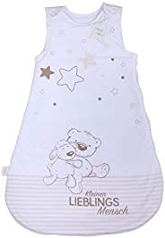 Herding Baby Best Baby sovsäck, liten favoritperson motiv, 90 cm, dragkedja runt sidan och tryckknappar, vit