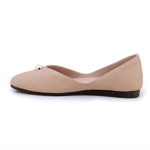 HWF Chaussures femme Chaussures pour femmes plates Soft Bottom Étudiant Fille Chaussures simples Chaussures de travail décontracté Mme Femme été
