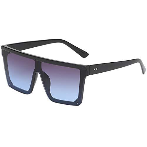 fazry Damen Herren Mode Persönlichkeit Platz Form Rahmen Sonnenbrille Vintage Punk Style Brille(C)