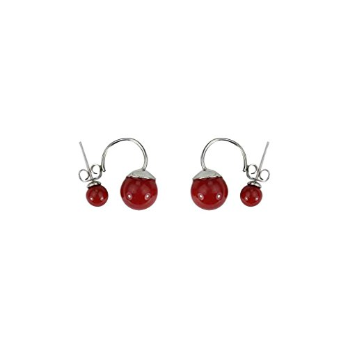 LUFA Double Imiter Perle Boucles d'oreilles pour Les Femmes Girl Fashion Casual Bijoux en Argent Sterling