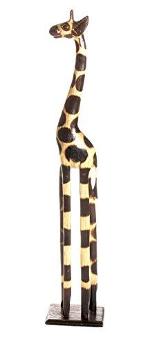 50cm Jirafa Giraffe Girafe Africa madera decoración + Pulsera amuleto de la...