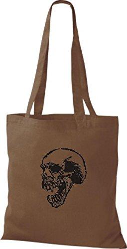 ShirtInStyle Stoffbeutel Skull Totenkopf Schädel diverse Farbe chestnut
