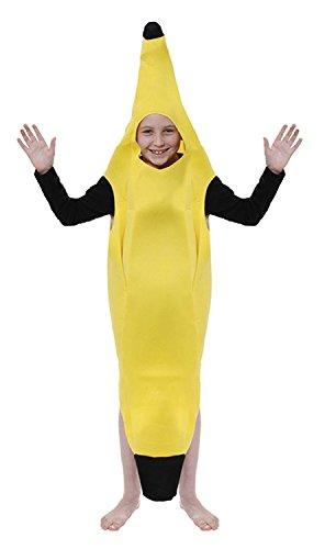 Kinder-gelbe Bananen Kostüm Alter 10-11 Jahre (Kostüm Banane Kinder Für)