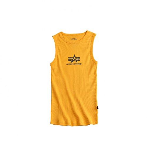 Alpha Industries Herren Oberteile / Tank Tops Logo Yellow
