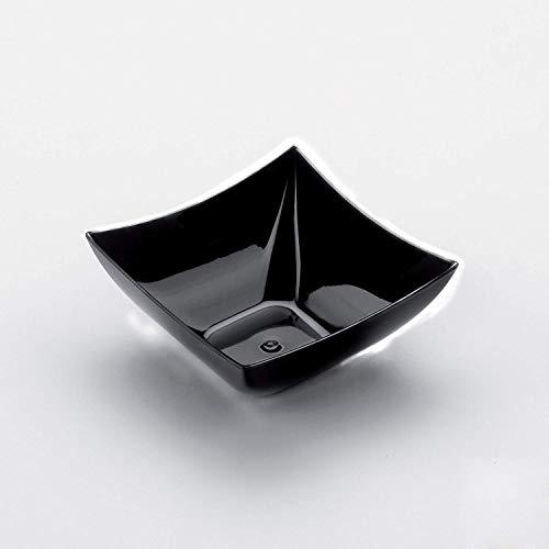 Gold Plast-Carrée-COUPELLE 25 par paquet 72x72 mm noir