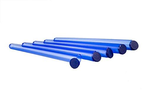 Weedness 5 x Joint-Hüllen 14 cm Blau für King Size Long Paper - Joint Aufbewahrung Wasserdicht Joint Hülle Geruchsdicht Joint Case Blau 14