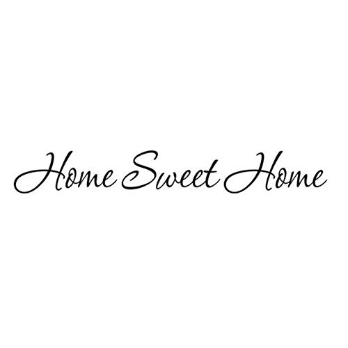 XCGZ Stickers muraux Sweet Home Wallpapers Vinyle Stickers Muraux Citations De Famille Sayings Stickers Muraux PVC Amovible Décor À La Maison Chambre Affiche