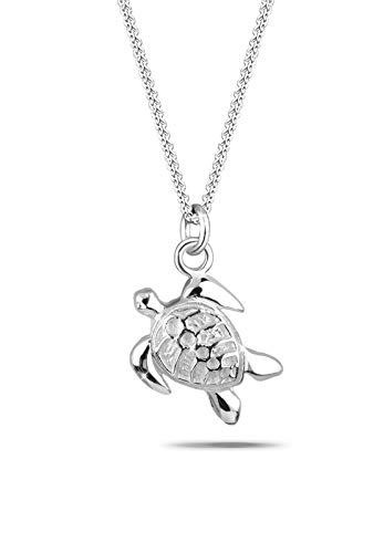 Elli Halskette Damen Schmuck Halskette mit Schildkröten Anhänger Meer Tier Meerestier in 925 Sterling Silber 45 cm lang