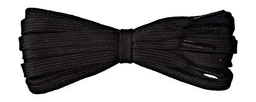 Fabmania Flache schwarz Baumwolle für Sportschnürsenkel - Ideal für Adidas Vans Nike Stan Smith - Länge 140 cm