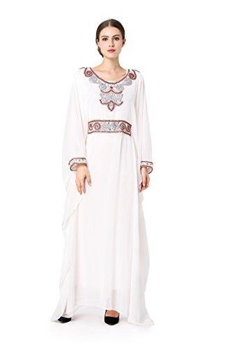 muslimische kleidung frauen Muslim Abaya Dubai kleider islamischen Hochzeitskleid Kleid Kaftan Rayon Gewand Jalabiya LF-14