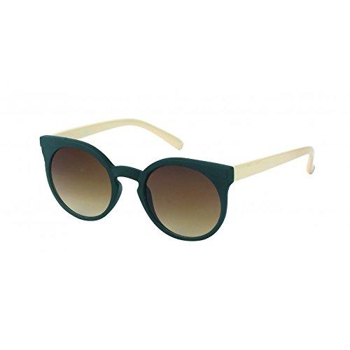 Chic-Net Sonnenbrille Damen rund John Lennon Vintage Cat Eye Animal Design 400UV Retro weiß