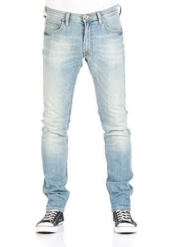 Lee Herren Jeans Luke Slim Tapered Fit - Blau - Sun Faded Green, Größe:W 27 L 32, Farbe:Sun Faded Green (QAJU) -