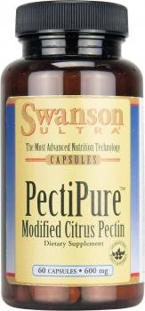 Ultra Pectipure Modified Citrus Pectin (600mg, 60 Capsules) by Swanson Health Products