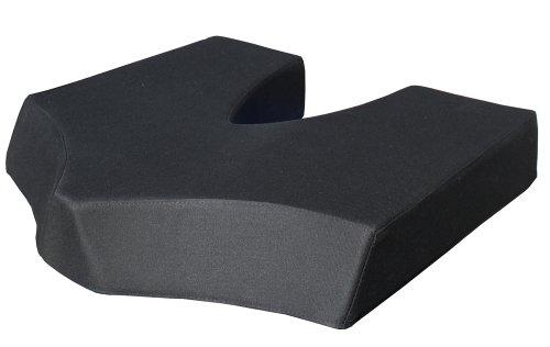 Preisvergleich Produktbild COCCY-XL Steißbeinkissen / orthopädisches Sitzkissen / Breite 46 cm Tiefe 44 cm Höhe 8 cm / Bezug 100% Baumwolle Farbe: schwarz