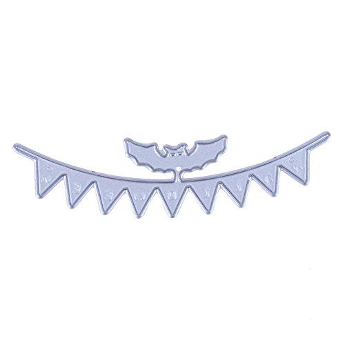 (vanpower 1 x Halloween-Fledermaus-Banner Metall Stanzschablonen für DIY Papier Karten Basteln Scrapbooking Prägung Album)
