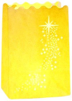 Lichtertüte Luminaria Shooting Star Windlicht, 8-er Set, Pappe Papier Zellstoff, 11 x 16 x 9 cm, weiß 8581100