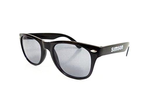 Unbekannt Sonnenbrille für Simson Logo - Schwarz - UV 400 - beidseitig Bedruckt (5-032)