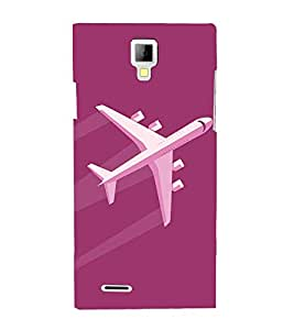 Aeroplane Clipart 3D Hard Polycarbonate Designer Back Case Cover for Micromax Canvas Xpress A99