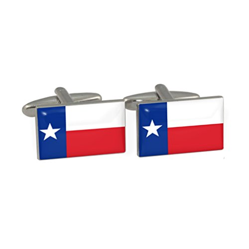 Texas US State Flagge Design Manschettenknöpfe in Geschenkbox (Dollar Ärmel Bill)