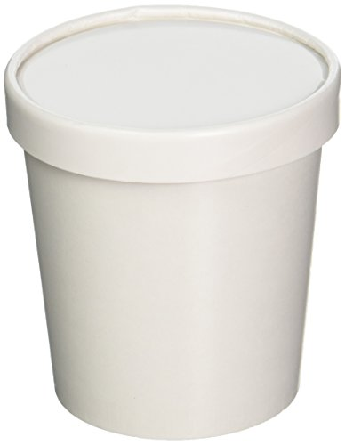 25ct White Pint Frozen Dessert Containers 16 oz by Sweet Bliss Containers Dessert-container