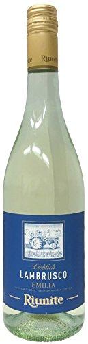Lambrusco-bianco-RIUNITE-dolce-DellEmilia-DOC-6-X-075-L-Vino-Frizzante-Weier-Ser-Perlwein-75-Vol-aus-Italien