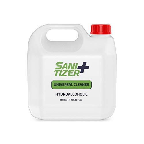Sanitizer + hidroalcoholico 5 Litros Gran formato | Sanitizer universal para manos y todo tipo de superficies | Desinfectantar antibacterial universal para todo tipo de superficies