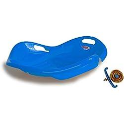 Jamara 460535 Snow Play Bob Speed Plateau Ergonomique en Plastique Durable Bleu/aérodynamique 78 cm