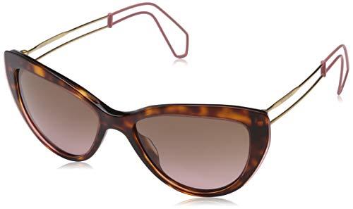 Miu Miu Damen 0MU12RS U6G5P1 55 Sonnenbrille, Braun (Havana/Pink Transparent/Violet),
