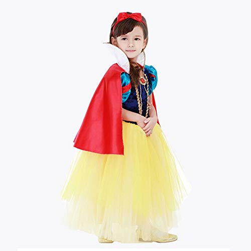Halloween Kids Kostüm Snow White Rock Mädchen fremdes Gaskleid Fluffy Rock Performance Kleid (4A, Green)