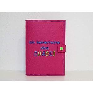 Kalenderhülle A5 inklusive Kalender aus Filz individuell bestickt - personalisiert - Buchhülle