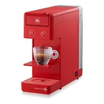 Máquina de café A cápsulas Illy modelo y3.2 iperEspresso Color Rojo, Cafetera de