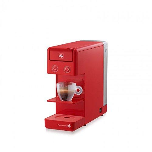 ILLY KAFFEEMASCHINE ILLY Modell Y3.2 Iperespresso Rot, Ideal für Espressokaffee und Amerikanischen Kaffee.
