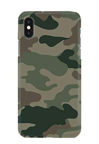 Case Me Up Handy Hülle für iPhone XS MAX Camo Camouflage Army Green Brown Blue Pink 9 Designs Handy-camouflage-design