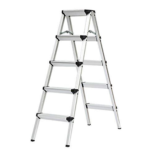 Schritt Stuhl Aluminium-Klappleiter-Haushalt, 5-stufige Leiter, geringes Gewicht, maximale Tragfähigkeit bis zu 150 kg TAO LU Shop