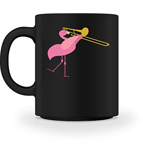 Süßer Flamingo Spielt Posaune Orchester - Tasse