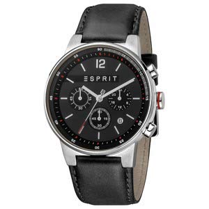 Esprit Herrenuhr Equalizer Black Chronograph 10 Bar Analog Chrono Datum Edelstahl ES-1G025L0025