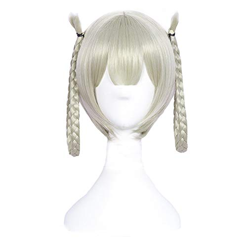 rücken Flachsgrau Zwei geflochtenes Haar ()