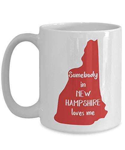 Hampshire Thermobecher mit Aufschrift'Someebody In New Hampshire Loves Me'
