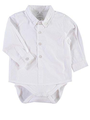 NAME IT - Costume de baptême - Uni - Manches Longues - Bébé (garçon) 0 à 24 mois blanc Weiß - blanc - 62 cm