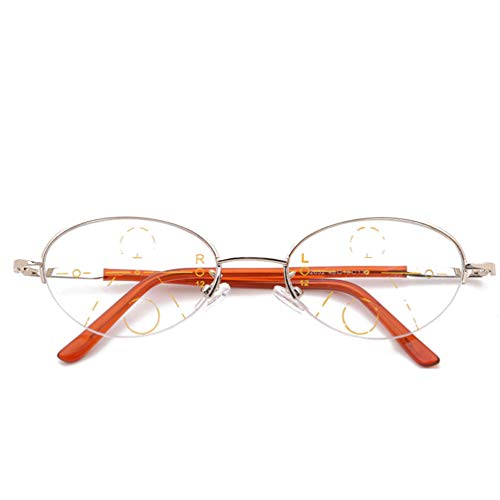 Blu-ray Glasses,Beobachten Sie Mobile Brillen,Entlastung der Augen vor Müdigkeit,Computer Lesen EyewearFerne und nahe Brille Smart Zoom Lesebrille,Glasses Anti Blue Light-C-1-+400