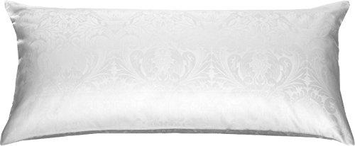 Damast Kissenbezug (Bettwaesche-mit-Stil Mako Satin Damast Bettwäsche Ornament - viele Größen (Kissen 40 cm x 80 cm))